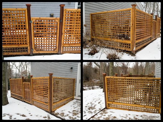 Fence Hiding Pool Equipment – Shelter Island, NY