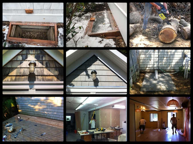 Window Well Covers, Staining, Outdoor Shower, Outdoor Deck & Yoga Room – Shelter Island, NY