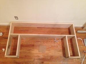 Poplar Wall Shelf + TV Frame
