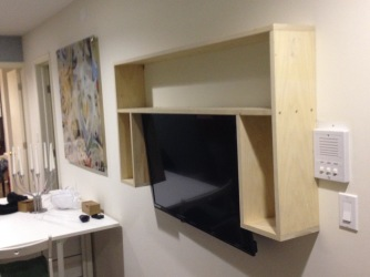 Poplar Wall Shelf + TV Frame