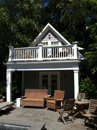 Pool House Clean + Restain
