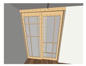 "Custom Pine Shoji Sliding Doors with 1/8"" Opaque Acrylic Sheet // [KI•NET•IC] NYC"